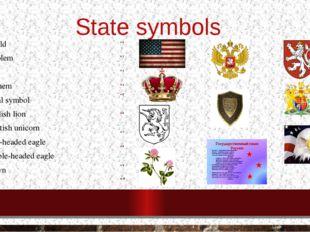 State symbols Shield Emblem Flag Anthem floral symbol English lion Scottish u