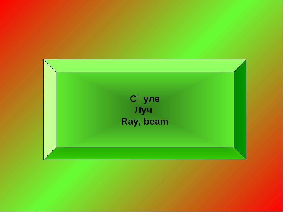 Сәуле Луч Ray, beam