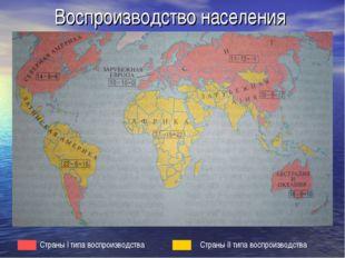 Воспроизводство населения Страны I типа воспроизводства Страны II типа воспро