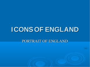 ICONS OF ENGLAND PORTRAIT OF ENGLAND