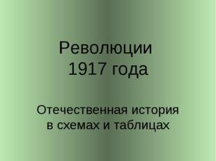 Революции 1917 года Отечественная история в схемах и таблицах