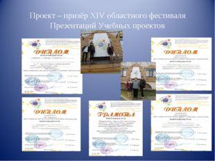 Проект – призёр XIV областного фестиваля Презентаций Учебных проектов