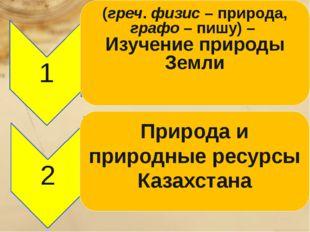 Природа и природные ресурсы Казахстана (греч. физис – природа, графо – пишу)