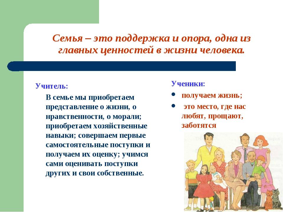 Семья – это поддержка и опора, одна из главных ценностей в жизни человека. Уч...