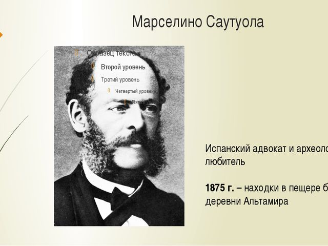 Марселино Саутуола Испанский адвокат и археолог-любитель 1875 г. – находки в...