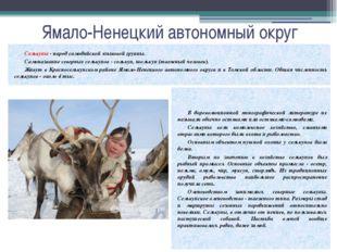 Ямало-Ненецкий автономный округ Селькупы - народ самодийской языковой группы.