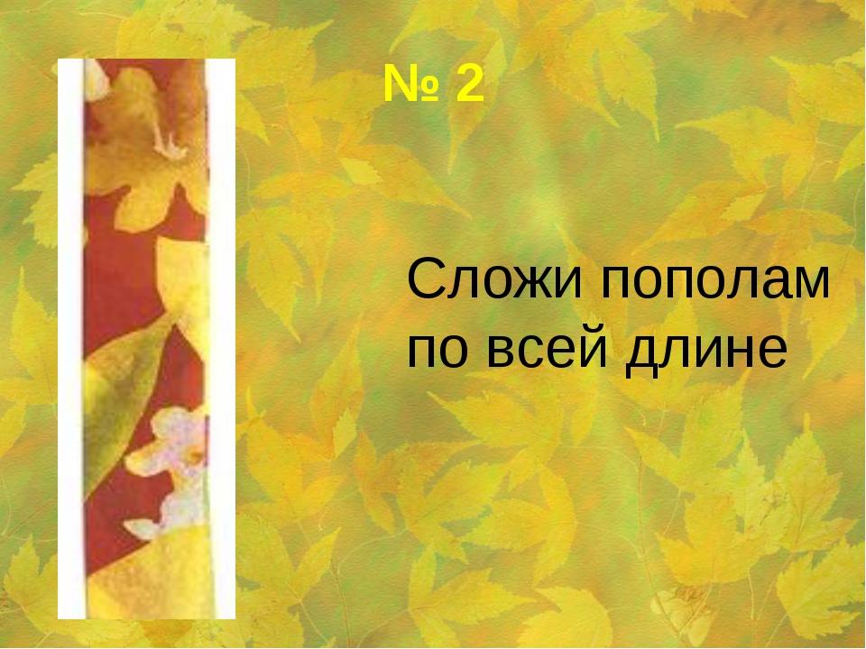 № 2 Сложи пополам по всей длине