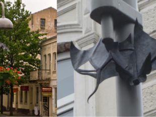 Памятник летучей мыши Даугавпилс (Латвия).