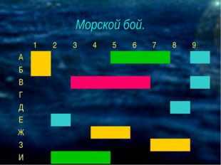 Морской бой. 123456789 А Б В Г Д