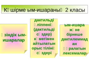 Көшірме ым-ишараның 2 класы өзіндік ым-ишаралар дактильді әліппенің (дактильд