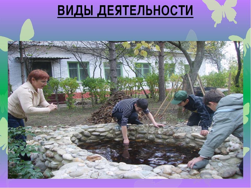 экологические акции ВИДЫ ДЕЯТЕЛЬНОСТИ