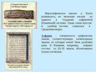 Иероглифическое письмо в Китае развивалось, но эволюция письма не привела к