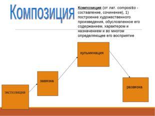Композиция (от лат. compositio - составление, сочинение), 1) построение худож