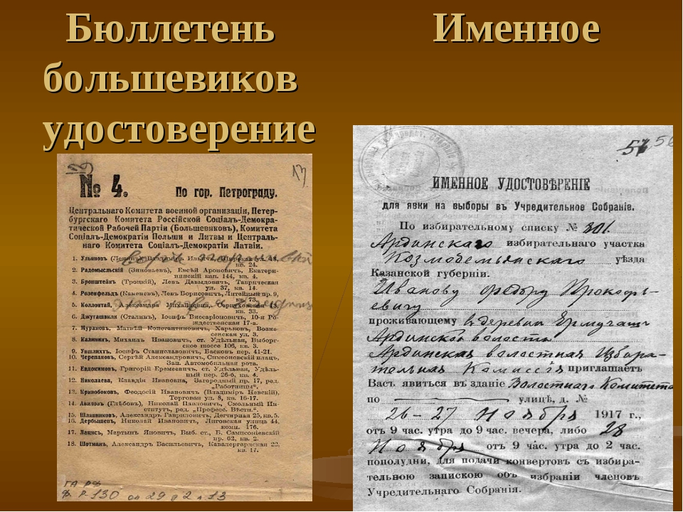 Бюллетень Именное большевиков удостоверение