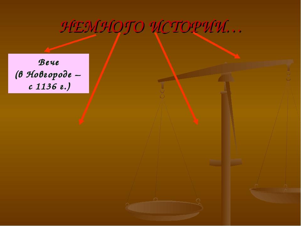 НЕМНОГО ИСТОРИИ… Вече (в Новгороде – с 1136 г.)