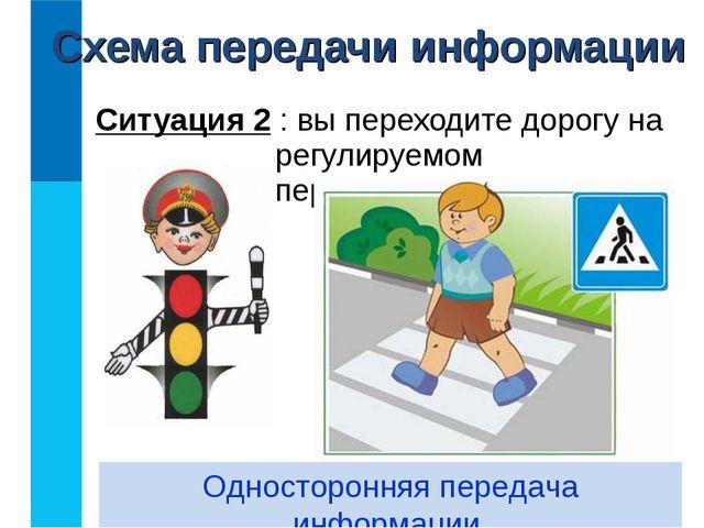 Ситуация 2 : вы переходите дорогу на регулируемом перекрёстке. Односторонняя...