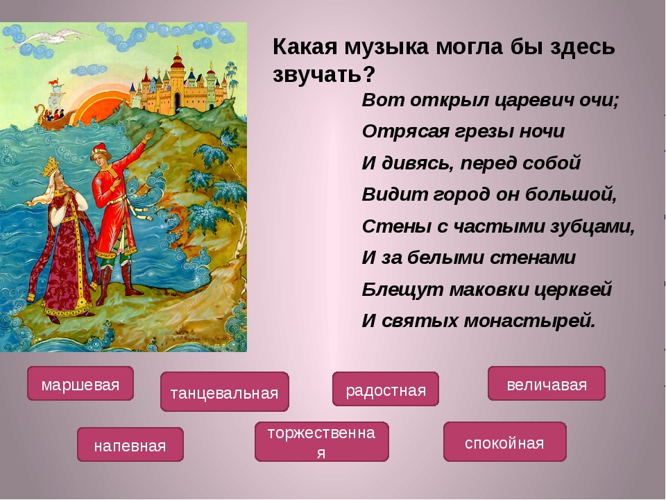 Вот открыл царевич очи; Отрясая грезы ночи И дивясь, перед собой Видит город...