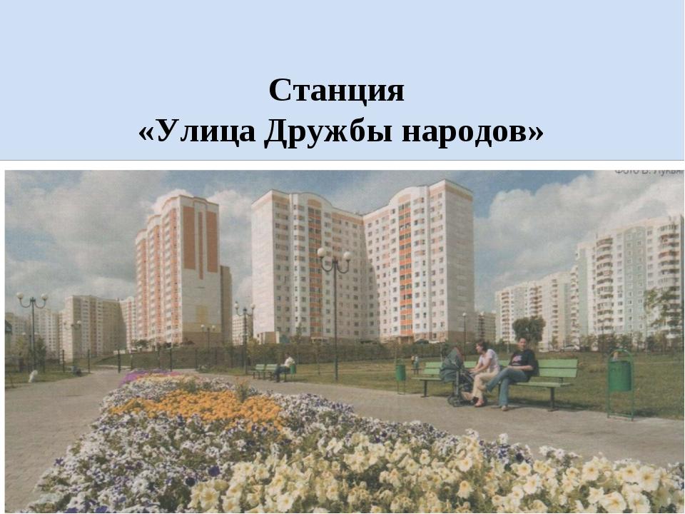 Станция «Улица Дружбы народов»