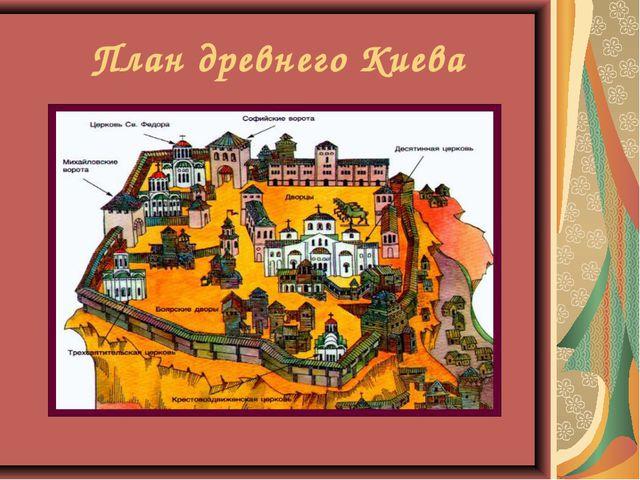 План древнего Киева