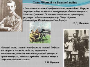 «Вспоминая поэтов Серебряного века, прошедших Первую мировую войну, историки