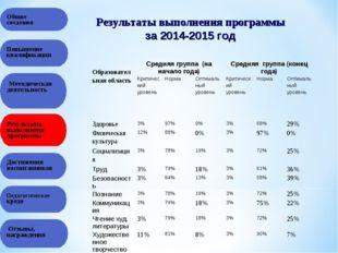 Общие сведения Результаты выполнения программы Повышение квалификации Методич