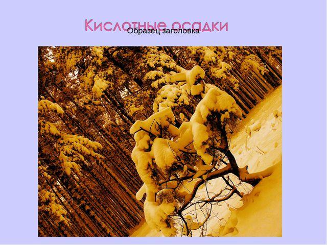 Дождь, снег или дождь со снегом, имеющие повышенную кислотность.