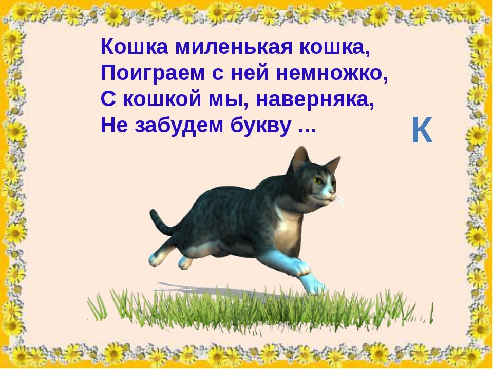 Кошкамиленькая кошка, Поиграем с ней немножко, С кошкой мы, наверняка, Не з...