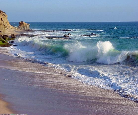 Описание: волны, берег, море - (картинка, изображение, фото, обои 392778)
