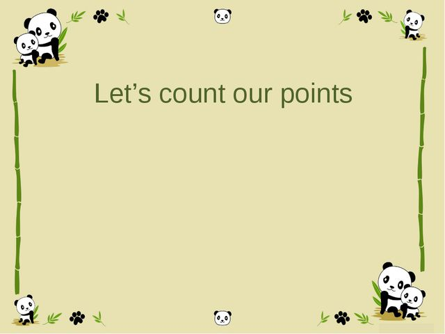Let's count our points