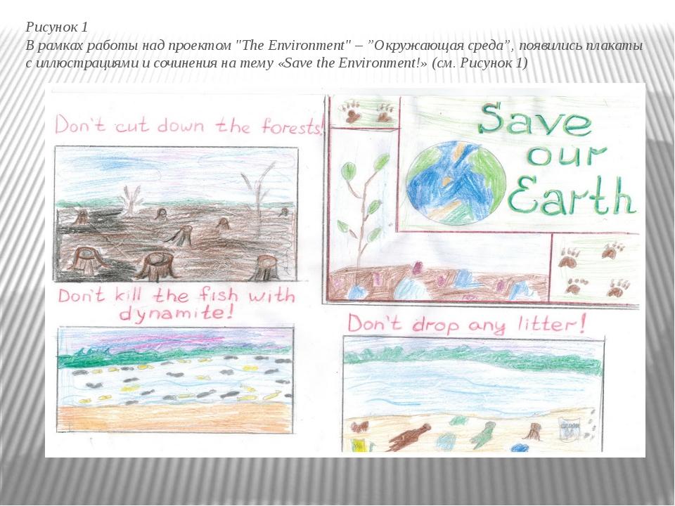 """Рисунок 1 В рамках работы над проектом """"The Environment"""" – """"Окружающая среда..."""