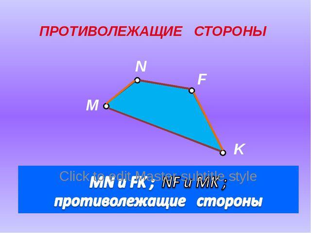 M N F K ПРОТИВОЛЕЖАЩИЕ СТОРОНЫ