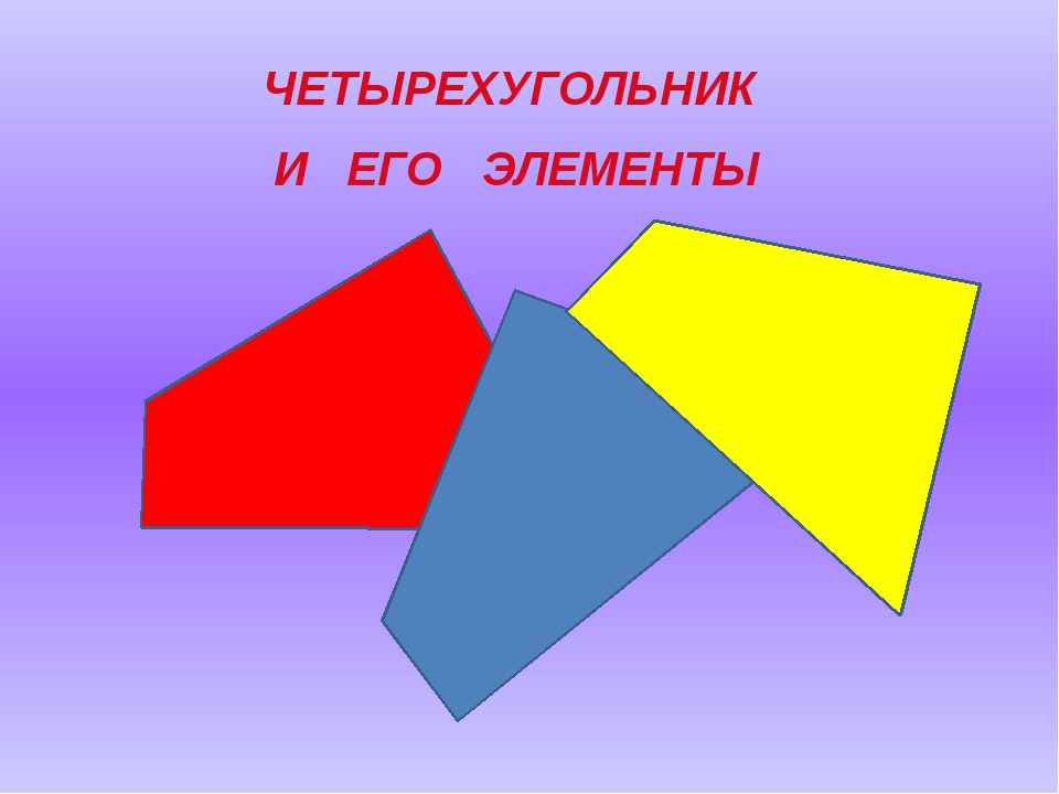 ЧЕТЫРЕХУГОЛЬНИК И ЕГО ЭЛЕМЕНТЫ