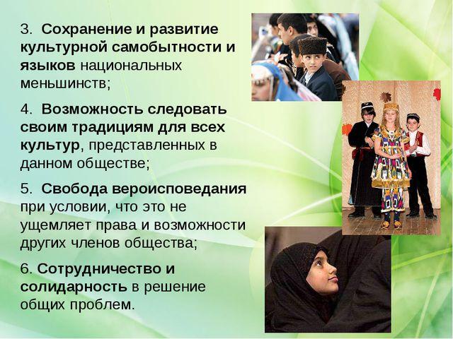 3. Сохранение и развитие культурной самобытности и языков национальных меньш...