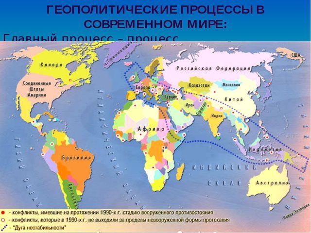 Конспект урока по географии геополитика мира