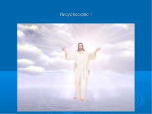 Иисус воскрес!!!