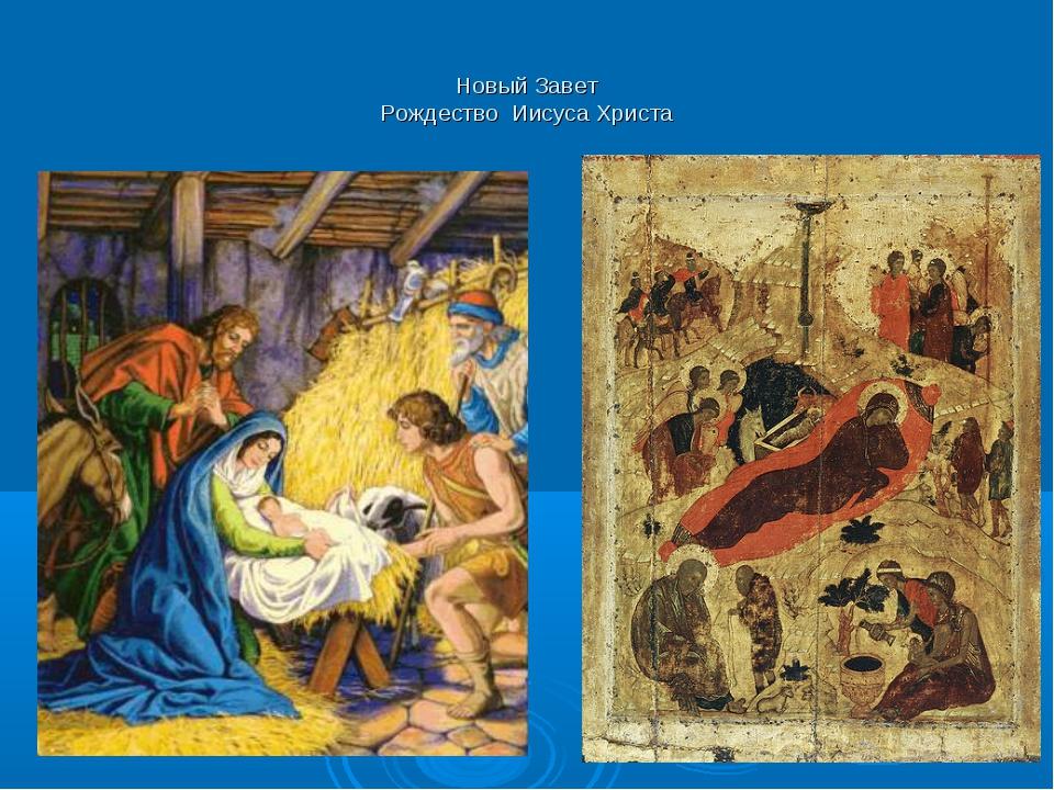Новый Завет Рождество Иисуса Христа