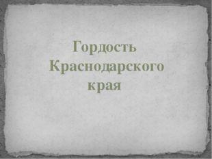 Гордость Краснодарского края