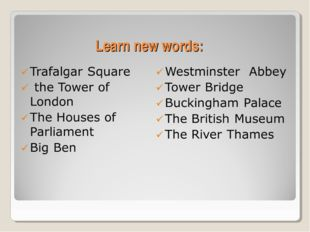 Learn new words: