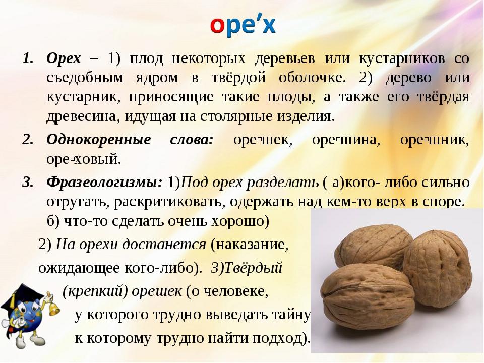 Пословицы про орехи