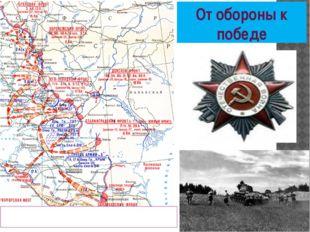 От обороны к победе Оборонительная операция проведённая на территории нашего