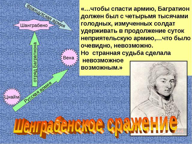 «…чтобы спасти армию, Багратион должен был с четырьмя тысячами голодных, изму...