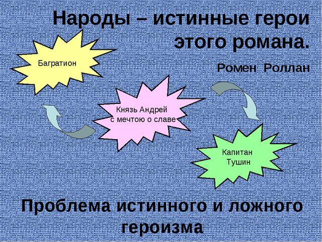 Народы – истинные герои этого романа. Ромен Роллан Проблема истинного и ложно...