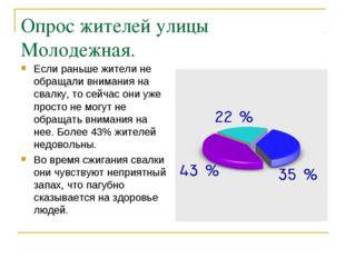Опрос жителей улицы Молодежная. Если раньше жители не обращали внимания на св