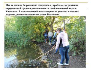 Мы не смогли безразлично отнестись к проблеме загрязнения окружающей среды и