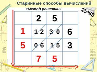 Старинные способы вычислений Пирамида 351*248 3 5 1 2 4 8 062008 3 5 1 3 5 1