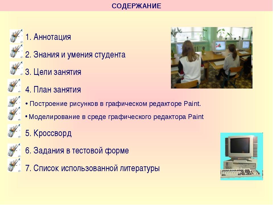 1. Аннотация 2. Знания и умения студента 3. Цели занятия 4. План занятия Пост...