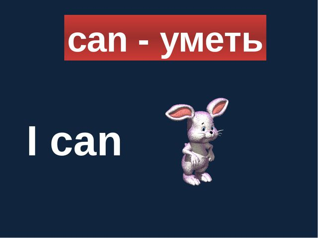 can - уметь I can