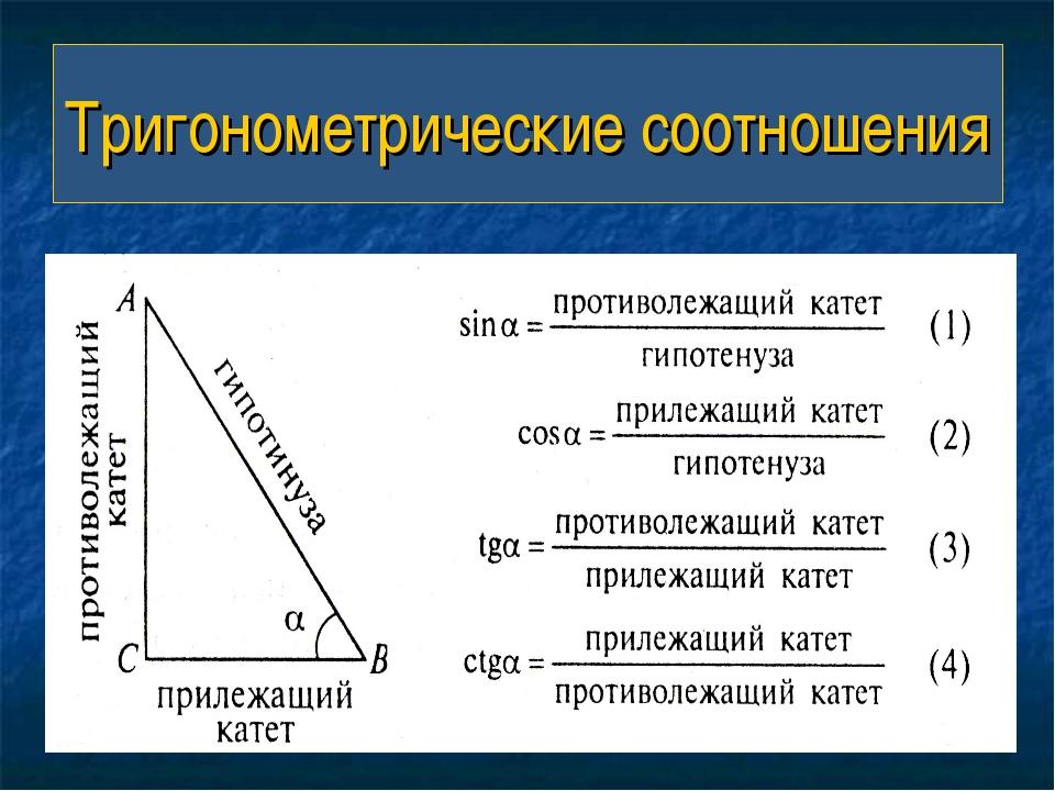 Тригонометрические соотношения