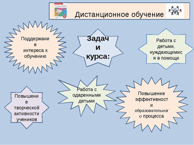 Задачи курса: Повышение творческой активности учеников Повышение эффективност...