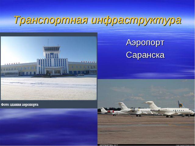 Транспортная инфраструктура Аэропорт Саранска